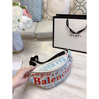 Balenciaga New Fashion More Letter Print Leather Waist Bust Bag Shoulder Bag Handbag