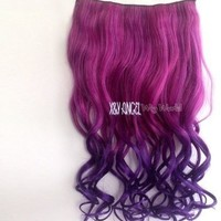 X&Y ANGEL -New One Piece Long Curl/curly/wavy Synthetic Thick Hair Extensions Clip-on Hairpieces 26 Colors (#613)