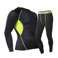 2018 New Men's Action Sports 2 Piece Set Surface Elastic Force Long Johns Winter Warm Thermal Compression Underwear Sets  Quick Dry Anti-microbial Stretch Thermo Spring Pouch Leggings -Pants with Warm Fast-Dry Technology