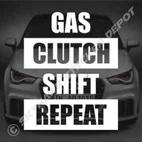 Gas Clutch Shift Repeat Bumper Sticker vinyl Decal JDM Manual Transmission Honda