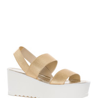 Ginger Spice Platform Sandals - Gold