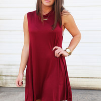 The Highlander Shift Dress {Burgundy}