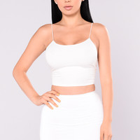 KiKi Cropped Top - Ivory