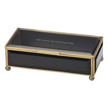 kate spade new york 'when in doubt, add something sparkling' glass jewelry box   Nordstrom