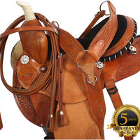 Natural Barrel Racing Saddle Tack Package 16- Western Horse Saddles - Saddle Online