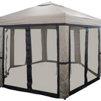 Eclipse Patio 10' Hex Pop-Up Gazebo W/Net