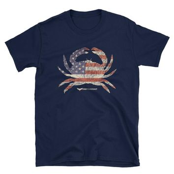 Men's Find Your Coast American Crab Cotton Tee Shirt