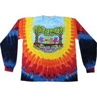 Grateful Dead Men's  Wood Bears Tie Dye  Long Sleeve Multi