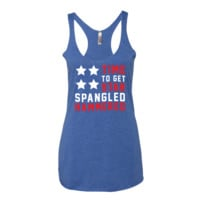 Star Spangled Hammered - Women's American Flag Tank Top
