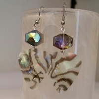Guitar Pick Earrings - Betsy's Jewelry - Abalone Style Gems