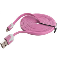 Light Pink Noodle Lightning Data Sync Cable Charger (10FT) for Apple iPhone 6 Plus / 6S Plus (5.5)