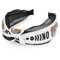 Moschino New fashion bear letter print headband hair clasp White
