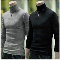 New Fashionable Men Sweater / High-Necked Smart Sweater
