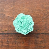 Peony Drawer Knobs - Cabinet Knobs in Light Green