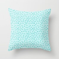 Baby Blue Dots Pattern Throw Pillow by Allyson Johnson | Society6