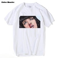 Movie Mia Wallace Pulp Fiction T shirt Men Fashion Summer Quentin Tarantino T-shirt Cotton Hip Hop Girl Printed Top Tees
