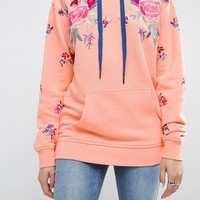 ASOS Hoodie with Floral Embroidery at asos.com