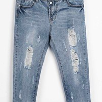 Cupshe Now You See Me Distressed Jeans
