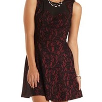 Chiffon & Bonded Lace Skater Dress by Charlotte Russe