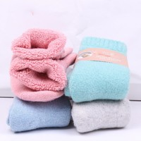 Winter New Product Exceed Thickness Thick Line Cashmere Socks 10 Color Optional Wool Ma'am Towel Socks