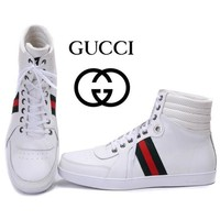 GUCCI Woman Men Fashion Casual High-Top Flats Shoes