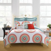 Anthology™ Bungalow Quilted Pillow Sham in Coral/White