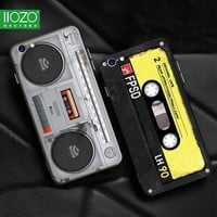Phone Case For iphone 6 7 plus Cool 3D Old Styles Tape Radio Original Cases Hard Back For iphone 6 6s Plus Cover Bag