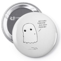 sad ghost Pin-back button