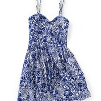 Aeropostale Floral Convertible Strapless Dress