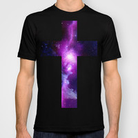 Galaxy Cross T-shirt by Nestor | Society6