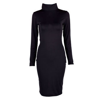 Sexy Women Long Sleeve Backless Dress Bandage Bodycon Cocktail Club Party Knee Dresses SM6