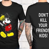2 Side XXXTENTACION TOUR MERCH DON'T KILL YOU FRIENDS Black T-Shirt tee S-3XL