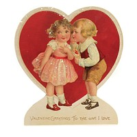 Valentine's Day Valentine Children Dummy Board Vintage Look - RL9786 STAND