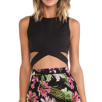 Lovers + Friends So Into You Crop Top in Black