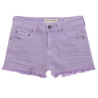 Bullhead Denim Co High Rise Fray Hem Shorts at PacSun.com