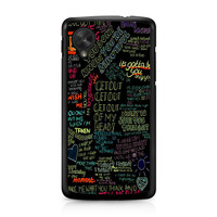 one direction song LG Nexus 5 Case