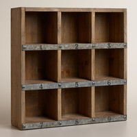 Wood and Metal Owen Numbered Desk Cubby - World Market