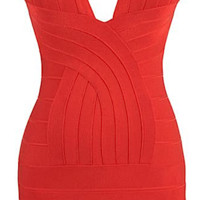 Mila Criss Cross Bandage Dress - Red