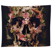 Jungle Skull Tapestry