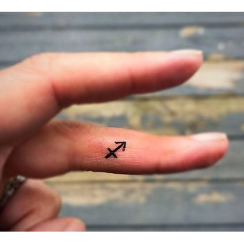 Sagittarius zodiac tattoos set of 20 tiny fake tattoos mini temporary tattoos