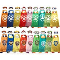 Cool Kids Dress up Costumes Boys and Girls Superhero Capes Masks double side for Children Cosplay Birthday PartyAT_93_12