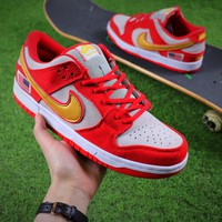 Nike SB Dunk Red White Shoes - Best Online Sale