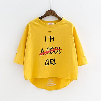 Not a cool girl loose short tee