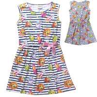 2015 SHOPKINS girls clothes sleeveless mini children's dress girls dress teenager kids dresses for girls High quality age 6-12T