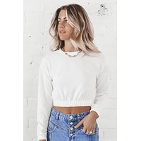 Coastline Cream Crop Top
