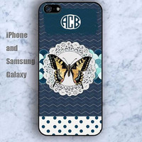 monogram custom Butterfly colorful iPhone 5/5S Ipod touch Silicone Rubber Case Phone cover Waterproof