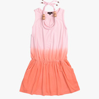 Imoga Pat Necklace Dress in Peach Ombre - FINAL SALE