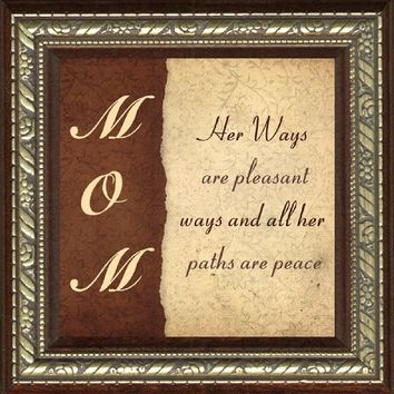 """Mom Framed Unique Gift 3.5"""" X 3.5"""" with Built in Easel Back"""