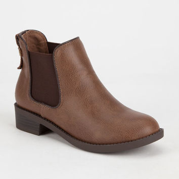 Soda Chelsea Girls Boots Camel  In Sizes