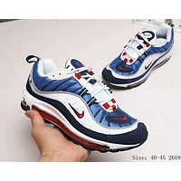 NIKE Air Max OG 98 Fashion Men Casual Running Sport Shoes Sneakers White Blue I
